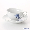 Blue Meissen (Meissen) rose Aquatinta-Rose 750501 / 28633 Tea Cup & Saucer 170 cc