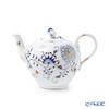 Meissen 'Blue Onion' Red & Gold 800117/00722 Tea Pot 350ml