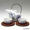 マイセン(Meissen) ブルーオニオン スタイル レッド&ゴールド 80a097/c24022人用 日本茶セット(ベットガーセッ器ソーサー 2客付)