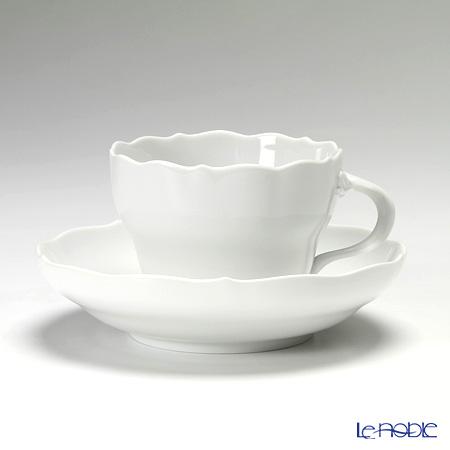 マイセン(Meissen) マイセンホワイト 000001/00582 コーヒーカップ&ソーサー 200cc(ノイアー・アウスシュニット)