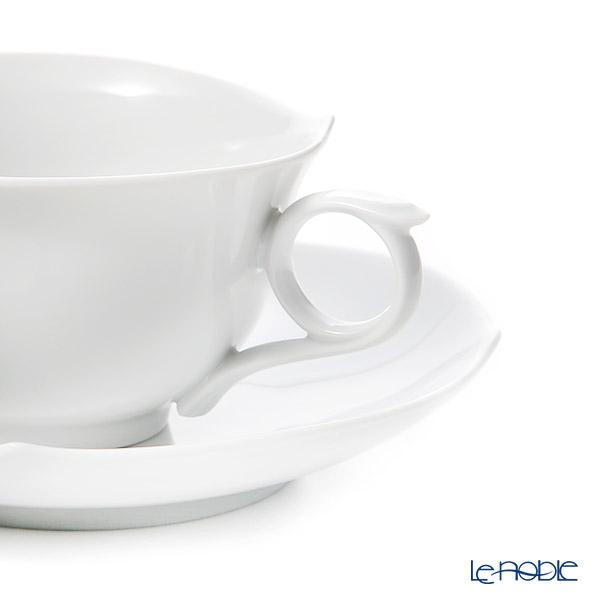 マイセン(Meissen) ホワイトピュア 000001/28633ティーカップ&ソーサー 170cc(波の戯れ/レリーフなし)