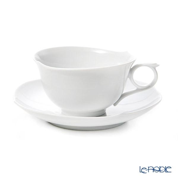マイセン(Meissen) ホワイトピュア 000001/28633 ティーカップ&ソーサー 170cc(波の戯れ/レリーフなし)