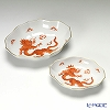330510 Meissen Dragon red / c5303 Dish set of 2 ( 16 cm & 12 cm