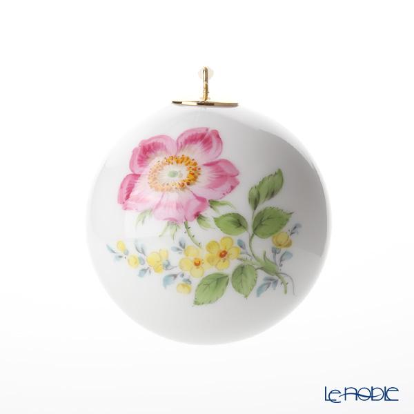 マイセン(Meissen) ベーシックフラワー(二つ花) 04C003/55M09 ボールオーナメント 5cm(野バラ)