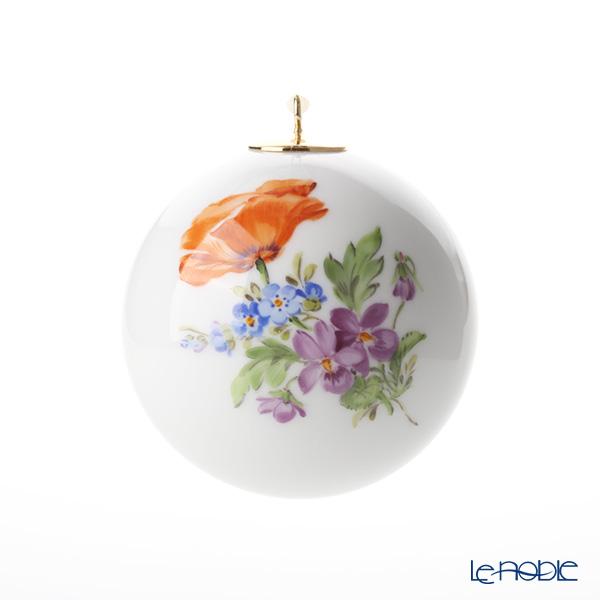 マイセン(Meissen)ベーシックフラワー(三つ花) 06C003/55M09 ボールオーナメント 5cm(ポピー)