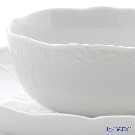 マイセン(Meissen) マイセンホワイト 000001/03583ティーカップ&ソーサー 160cc(ノイマルセイユレリーフ)