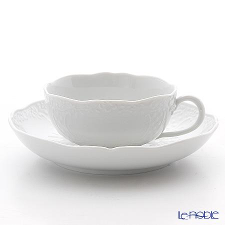 マイセン(Meissen) マイセンホワイト 000001/03583 ティーカップ&ソーサー 160cc(ノイマルセイユレリーフ)