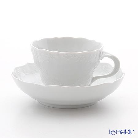 マイセン(Meissen) マイセンホワイト 000001/03582コーヒーカップ&ソーサー 200cc(ノイマルセイユレリーフ)