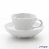 Meissen (Meissen) Meissen white 000001 / 03582 Coffee Cup & Saucer 200 cc Noi Marseille relief