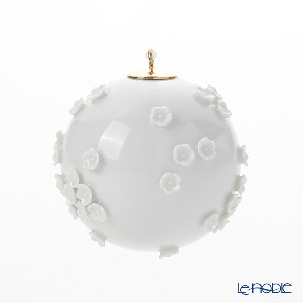 Meissen 'Snowball Blossom' White 000001/55M21 Ball Ornament H5.7cm