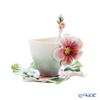 Franz Collection 'Joyful Geranium' FZ02372 Sculptured Cup & Saucer with Spoon