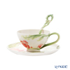 Franz Collection x Jean Boggio 'Pomegranate' JB00932 Sculptured Cup & Saucer with Spoon