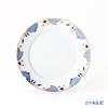 Meissen Noble Blue Candy Plate 14 cm, rim of onion elements, cobalt blue, red, gold, 802190-41500