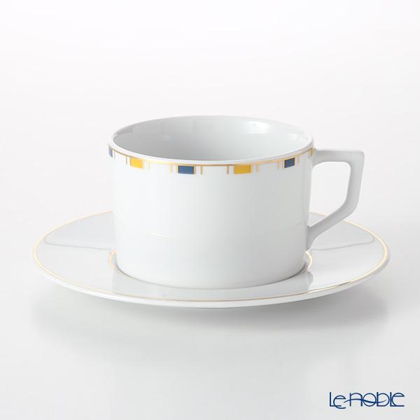マイセン(Meissen) ストライプ 79A213-41582 コーヒーカップ&ソーサー 180ml/14.5cm
