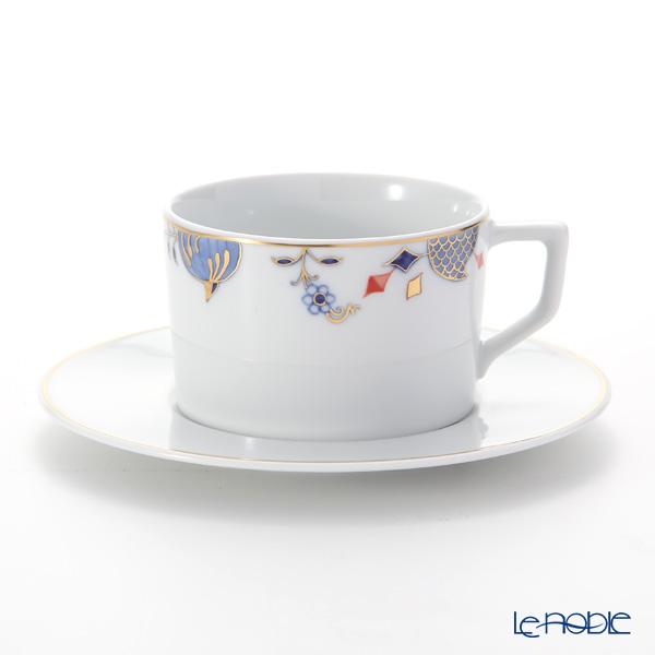 マイセン(Meissen) ノーブルブルー 802190-41582(572/98A077-41562) コーヒーカップ&ソーサー 180ml (オニオンエッジ)