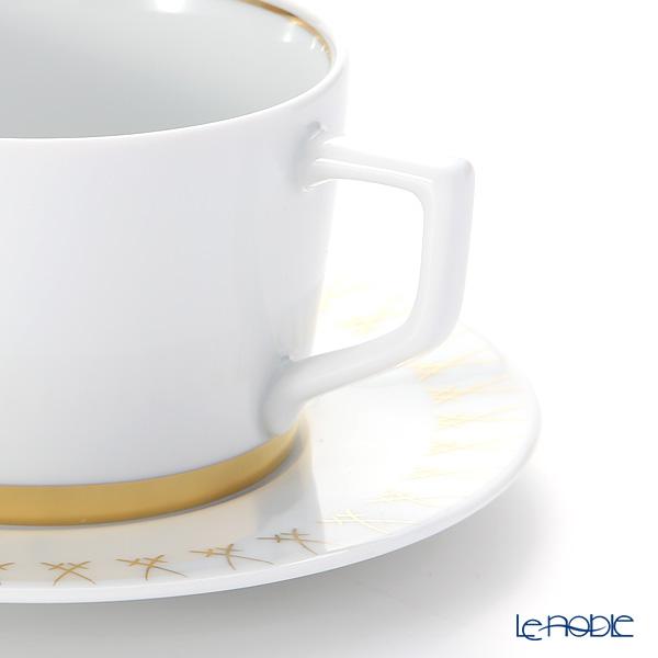 マイセン(Meissen) スウォード ラグジュアリーゴールド 99A370-41584カプチーノカップ&ソーサー 200ml/14.5cm