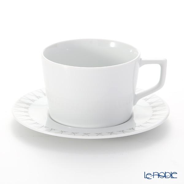 Meissen 'Swords' Elegant Grey 79A224/41584 Coffee Cup & Saucer 200ml