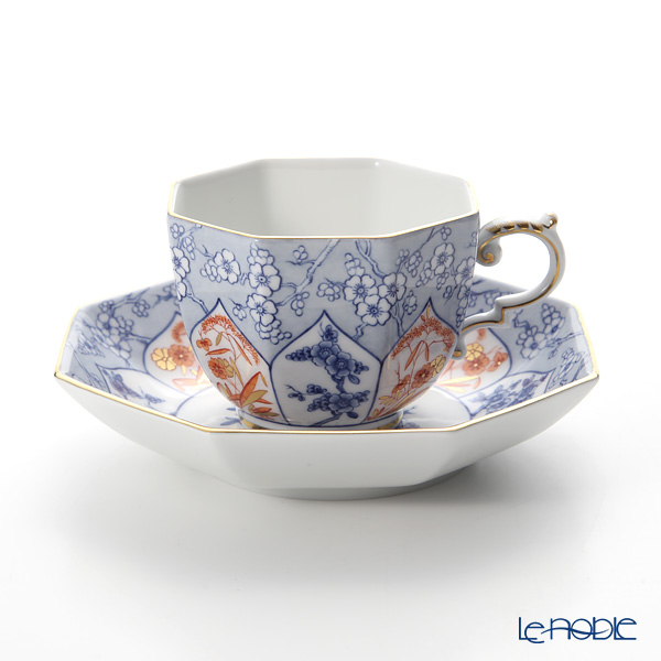 マイセン(Meissen) リミテッドエディション 408074/55836(LE2018) オクタゴナルカップ&ソーサー(ブルー)