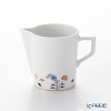 Meissen Noble Blue Creamer 7.5 cm / 150 ml, forget-me-not, cobalt blue, red, gold 803490-41762