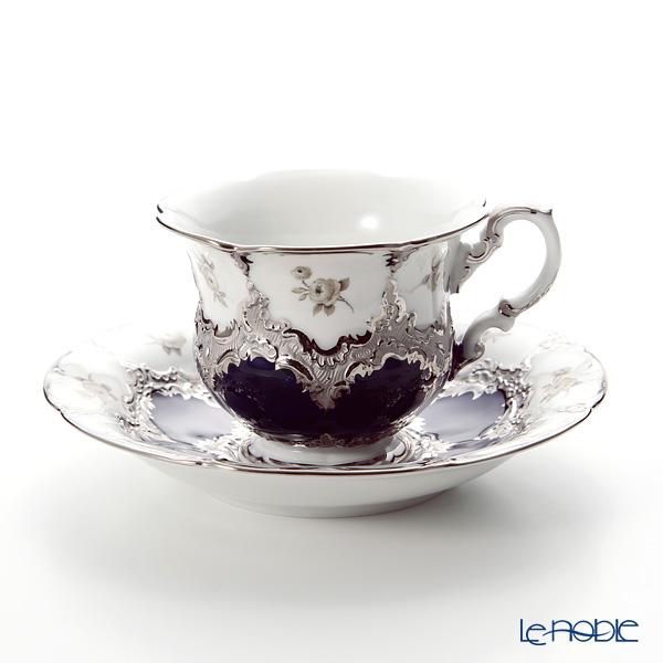 マイセン(Meissen) B-Form ロイヤルブループラチナ 018677/15582 コーヒーカップ&ソーサー 200cc