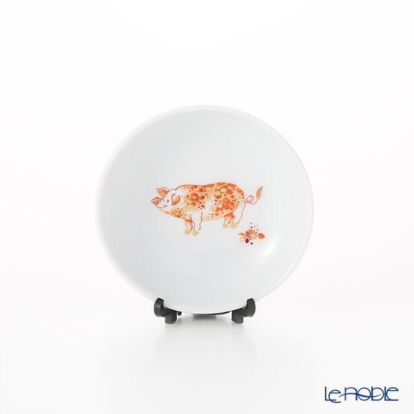 マイセン(Meissen) 680303/53600 ミニプレート 豚 8cm(干支2019猪-亥-)