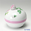 Herend 'Vienna Rose Pink / Vieille Rose de Herend' VRHX-4 06033-0-09 Round Box (Rose knob) 7.5xH7cm