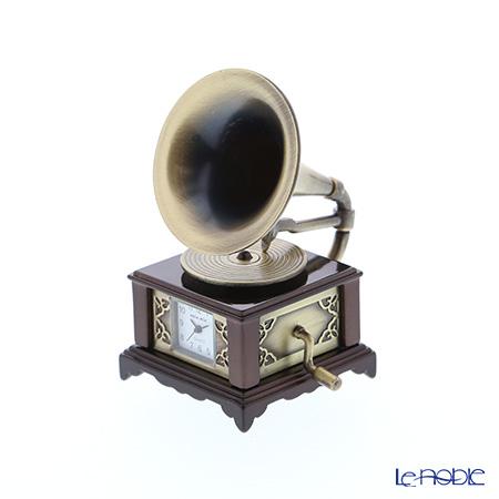 チックミック ミニチュア置時計 CH18860 蓄音機