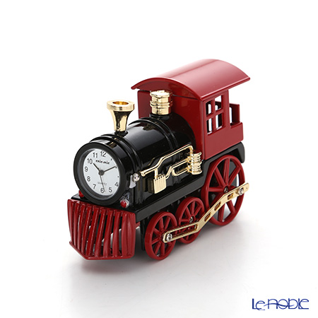 Chic Mic 'Locomotive' Red CH18861 Miniature Clock
