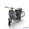 Chick Mic Motorcycle, grey, miniature table clock CH18866