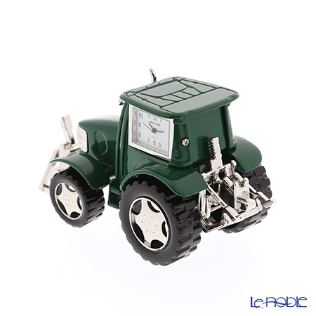 Chick Mic Tractor, green, miniature table clock CH18869