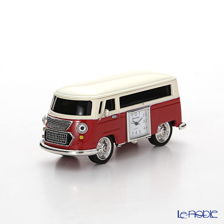 Chick Mic Nostalgic Bus, red, miniature table clock CH18919