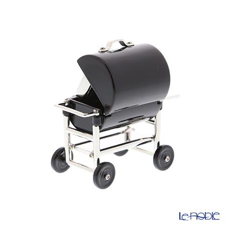 Chic Mic 'Barbecue (BBQ) Stove' Black CH18922 Miniature Clock