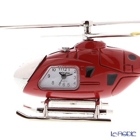 Chic Mic 'Helicopter' Red CH18923 Miniature Clock