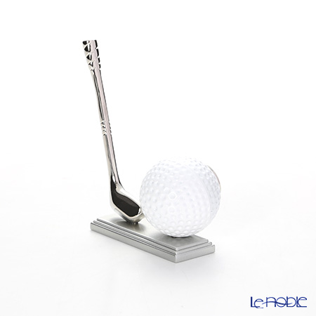 Chick Mic Golf Ball with Club, miniature table clock CH18927