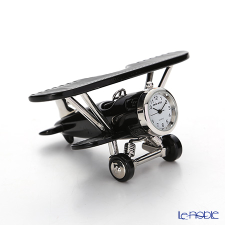 Chick Mic Airplane / Biplane, miniature table clock CH18928