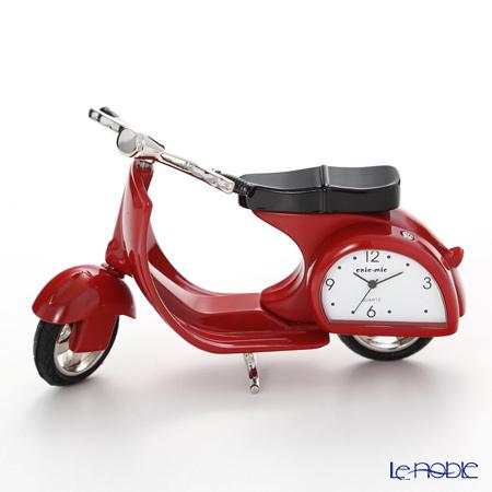 チックミック ミニチュア置時計 CH18929 オートバイ レッド