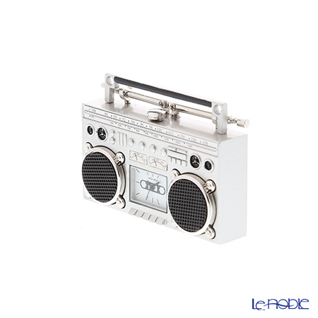 Chick Mic Radio‐Cassette Recorder/Boombox, miniature table clock CH18936