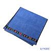 Feiler 'Anemone (Flower) Black' Blue Bath Towel 75x150cm