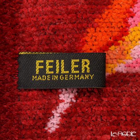 Feiler 'Fantasia (Flower)' Red Apron (shape No.5)