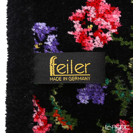 Feiler 'Fatima Petitte (Flower) Black' Black Apron (shape No.5)