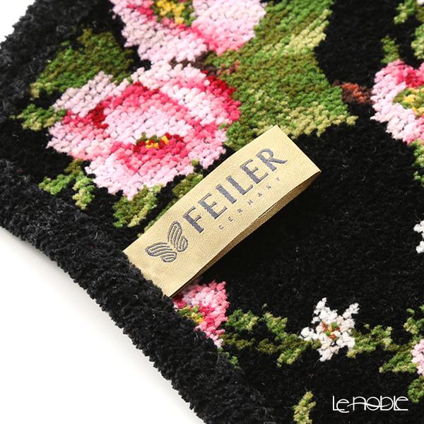 Feiler 'Amelie (Flower) Black' Apron (shape No.5)