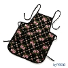 Feiler 'Amelie (Flower) Black' Apron (shape No.5)