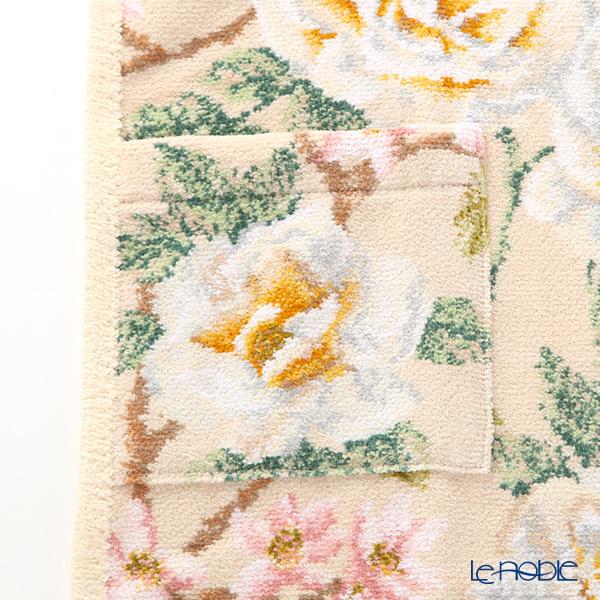 Feiler 'Vanilla Rose (Flower)' Beige Apron (shape No.5)