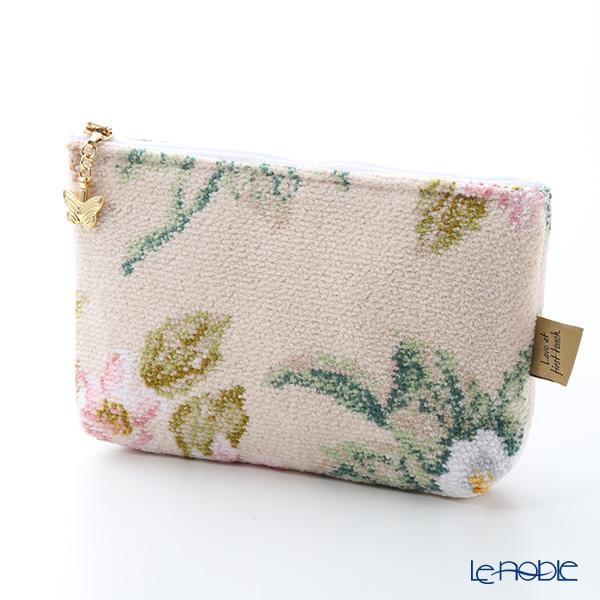 Feiler 'Vanilla Rose (Flower)' Beige Cosmetic Pouch 18x9cm