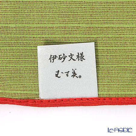 むす美 風呂敷 綿100% 日本製 20479-105チーフ伊砂文様両面ふろしき 梅 アカグリーン 48cm