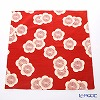 Musubi 'Isa monyo Reversible - Japanese Apricot' Red & Green Cotton Furoshiki Cloth 48cm