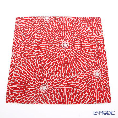 Musubi 'Isa monyo Reversible - Chrysanthemum' Red / Blue Cotton Furoshiki Cloth