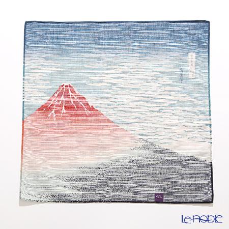 Musubi 'Ukiyo-e / South Wind, Clear Sky (Mt. Fuji - Hokusai)' Navy Blue Cotton Furoshiki Cloth 48cm