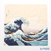 Musubi 'Ukiyo-e / Under The Wave Off Kanagawa Beige (Mt. Fuji - Hokusai)' Beige Cotton Furoshiki Cloth 48cm