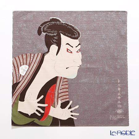 むす美 風呂敷 綿100% 日本製 20720-103チーフ隅田川 写楽 グレー 48cm